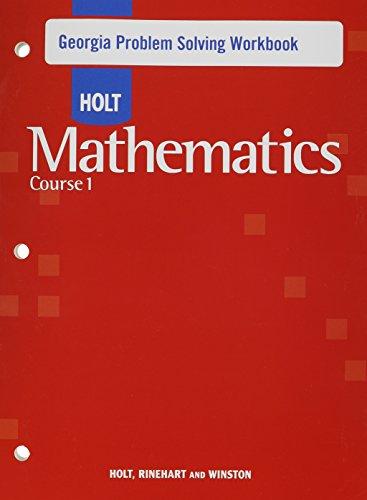 9780030937378: Holt Mathematics Georgia: Problem Solving Workbook Course 1