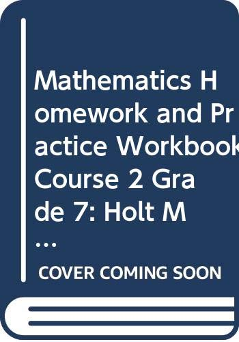 9780030937477: Holt Mathematics Georgia: Homework and Practice Workbook Course 2