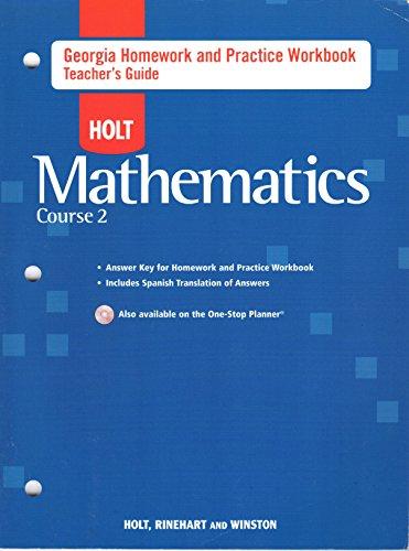 9780030937484: Holt Mathematics Georgia: Homework And Practice Workbook Teachers Guide Course 2