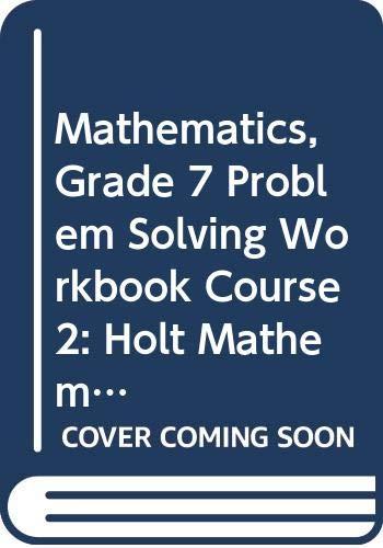 9780030937491: Holt Mathematics Georgia: Problem Solving Workbook Course 2
