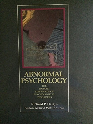 9780030937613: Abnormal Psychology: The Human Experience of Psychological Disorders