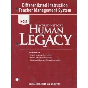 9780030937811: 2008 World History Human Legacy Differentiated Instructions Teacher Management System