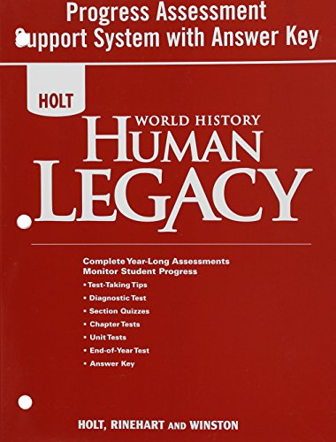 9780030937828: World History: Human Legacy: Progress Assessment Support System With Answer Key