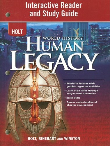 9780030937835: Holt World History: Human Legacy Interactive Reader and Study Guide