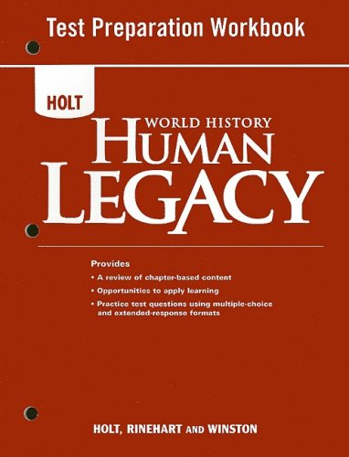 9780030938191: World History: Human Legacy: Test Preparation Workbook
