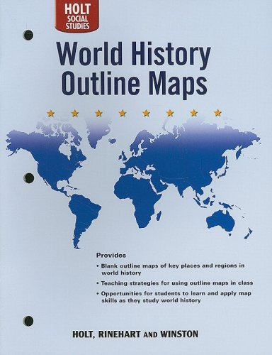 World history human legacy outline maps by holt rinehart and world history human legacy outline maps holt rinehart and winston gumiabroncs Gallery