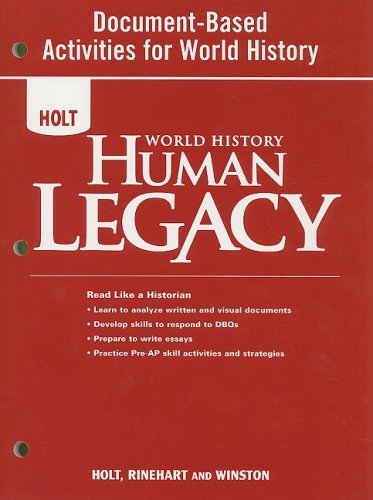 9780030938221: World History: Human Legacy: Document-Based Activities