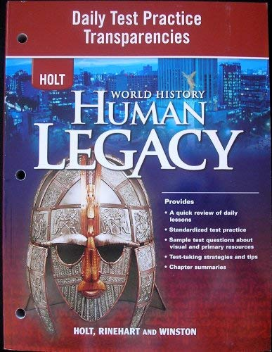 9780030938276: HOLT World History Human Legacy: Daily Test Practice Transparencies