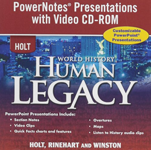 9780030938306: World History: Human Legacy: Powernotes Presentations With Video CD-ROM