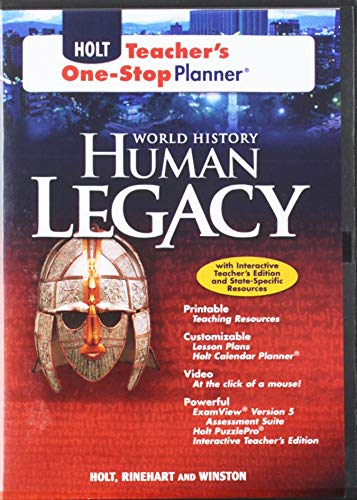 9780030938313: World History: Human Legacy: Teacher One-Stop Planner