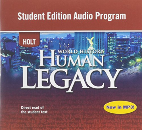 9780030938337: World History: Human Legacy: Student Edition Audio Program