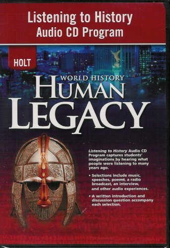 9780030938351: World History: Human Legacy Listening to History Audio Cd Program: Listening to History Audio Cd Program
