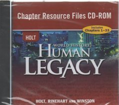 9780030938368: World History: Human Legacy: Chapter Resource Files CD-ROM