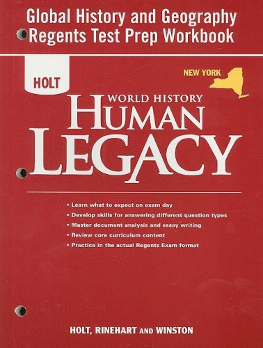 9780030938498: Holt World History: Human Legacy © 2008 New York: Global History and Geography Regents Preparation Workbook