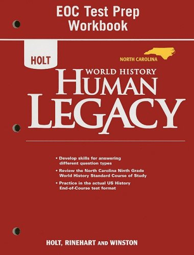 9780030938658: World History: Human Legacy North Carolina: Test Prep Workbook