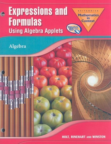 9780030938818: Holt Math in Context: Expressions And Formulas Using Algebra Applets Grade 6