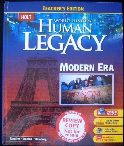 9780030938900: HOLT World History Human Legacy TEACHER'S EDITION