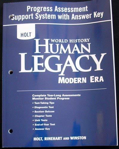 9780030938924: HOLT World History Human Legacy: Modern Era, Progress Assessment Support System with Answer Key