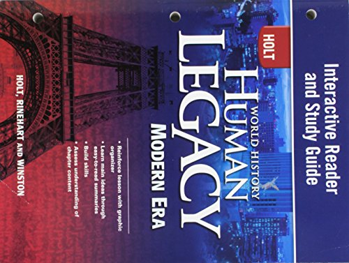 9780030938962: World History: Human Legacy Modern Era: Interactive Reader and Study Guide Modern Era