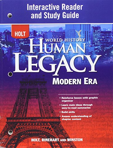 9780030938979: World History: Human Legacy Modern Era: Spanish/English Interactive Reader and Study Guide Modern Era