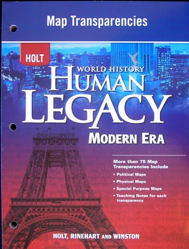 9780030939006: HOLT World History Human Legacy Modern Era: Map Transparencies