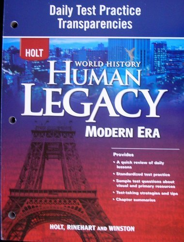9780030939013: HOLT World History Human Legacy Modern Era: Daily Test Practice Transparencies