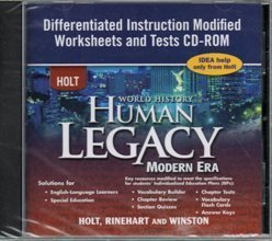 9780030939037: 2008 Holt World History Human Legacy Modern Era Differentiated Instruction Modified Worksheets and Tests CD ROM