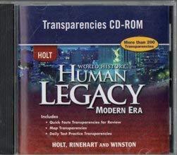 9780030939105: 2008 Holt World History HUman Legacy Modern Era Transparencies CD ROM