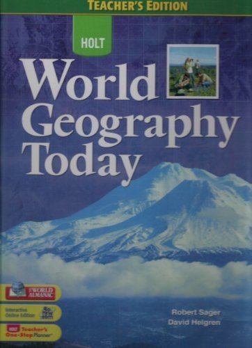 9780030939457: World Geography Today: Teacher Edition 2008