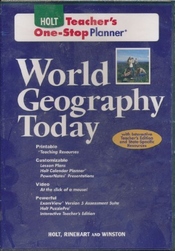 9780030939471: World Geography Today: One-Stop Teacher Edition