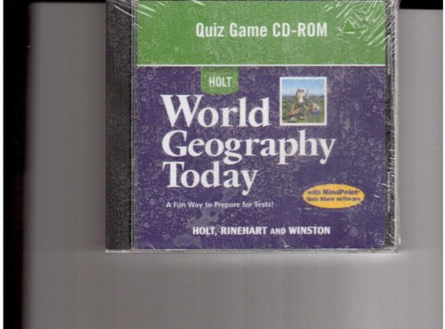 9780030939488: World Geography Today: Quiz Game Cd-Rom Grades 9-12