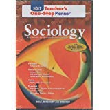 9780030939563: Sociology: The Study of Human Relationships Holt Teacher's One-Stop Planner