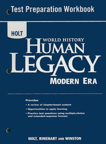 9780030940408: World History: Human Legacy Modern Era: Test Preparation Workbook Modern Era