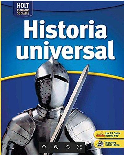 9780030941191: Holt Estudios Sociales Historia universal