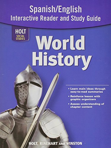 Holt World History: Spanish/English Interactive Reader Study Guide (2007 Copyright): Staff