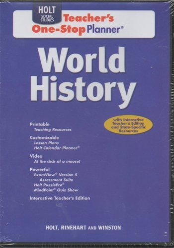 9780030941238: World History: Teacher One-Stop Planner CD-ROM