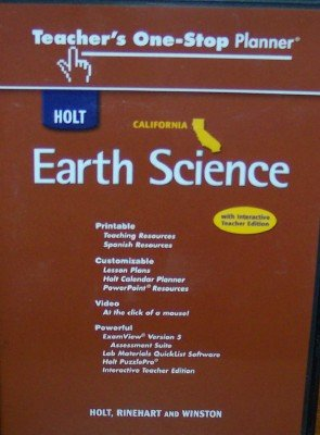 9780030941405: CA One Stop Te Holt Earth Science 2007