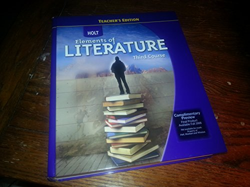 9780030944222: Elements of Literature Third Course
