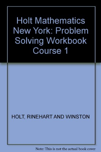 9780030944451: Holt Mathematics New York: Problem Solving Workbook Course 1