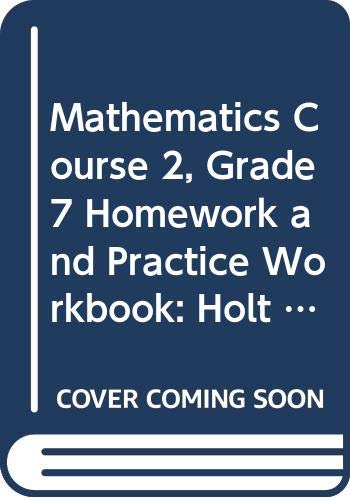 9780030944529: Holt Mathematics: Homework and Practice Workbook Course 2