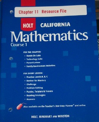 9780030945212: Course 1 Chapter 11 Resource File (HOLT CALIFORNIA Mathematics)