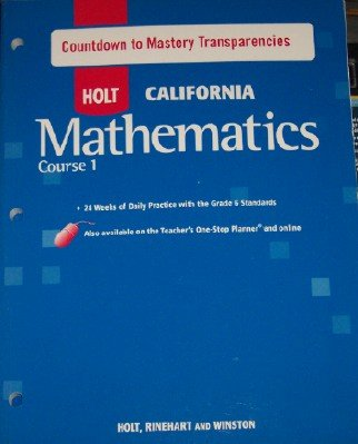 9780030945236: Course 1 Countdown to Mastery Transparencies (HOLT CALIFORNIA Mathematics)