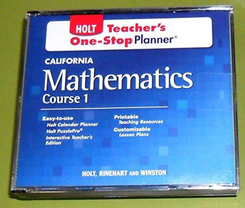9780030945403: Holt Mathematics California: Teachers One-Stop Planner Cd-Rom Course 1