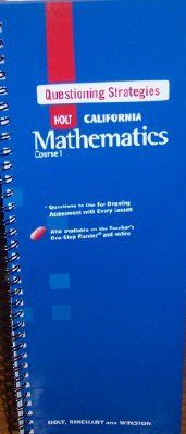 9780030945434: California Mathematics Course 1 Questioning Strategies