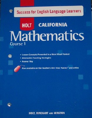 9780030945458: Course 1 Success for English Language Learners (HOLT CALIFORNIA Mathematics)
