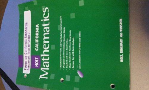 9780030945717: Holt Mathematics California: Focus On California Standards: Benchmark Tests
