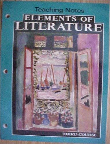 9780030946165: Teaching Notes Elements of Literature Third Course Holt HBJ 1993