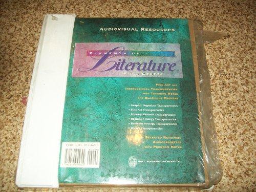 9780030946226: Elements of Literature: Course 1 AUDIOVISUAL RESOURCE BINDER (Elements of Literature)