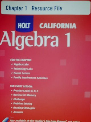 9780030946578: HOLT CALIFORNIA Algebra 1 Chapter 10: Resource File (HOLT CALIFORNIA Algebra 1)