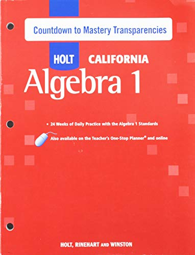 9780030946745: Holt Algebra 1 California: Countdown to Mastery Transparencies with Answers Algebra 1